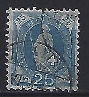 Switzerland 1899 Helvita  Mi.67 - 1882-1906 Coat Of Arms, Standing Helvetia & UPU