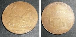 Rare Ancienne Médaille En Bronze Par A. PATEY Monnaie De Paris 1900 Exposition - Professionnels / De Société