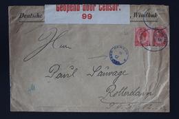 South African Occupation Of Southwest Africa Forerunner 24-3-16 Windhoek -> Rotterdam Altered German Cancels +censored - Südafrika (...-1961)