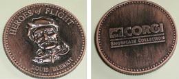 Rare Médaille En Métal Heroes Of Flight Louis BLERIOT, CORGI, Aviation Aviateur - Autres
