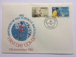 Zimbabwe Discovery Of The Tubercle Bacillus 1982 FDC - Zimbabwe (1980-...)