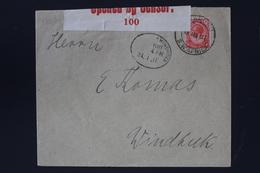 South African Occupation Of Southwest Africa Forerunner 24-1-1917 OMARURU->Windhoek  Altered German Cancels +censored - Südafrika (...-1961)