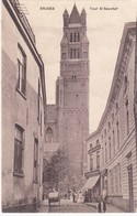 BRUGGE /  SINT SALVATOR KATHEDRAAL EN ZILVERSTRAAT / VERKEERDE OPDRUK RUE SUD DU SABLON - Brugge