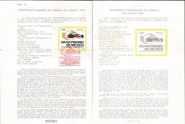 V) 1987 MEXICO, WORLD WIDE CHAMPIONSHIP OF FORMULA ONE MEXICO 1987, FDB - Mexico