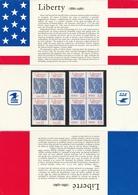 P 2421 EMISSIONS COMMUNES POCHETTE FRANCE-USA - STATUE De La LIBERTÉ - Autres