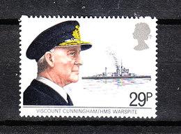 Gran Bretagna  -  1982.  Ammiraglio Orazio Nelson E La Sua Nave. Admiral Horace Nelson And His Ship. MNH - Celebrità