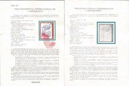 V) 1987 MEXICO, XIII INTERNATIONAL CONFERENCE OF CARTOGRAPHY, FDB - Mexico
