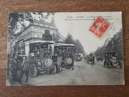 Paris - Splendide Plan Sur La Station D'Autobus (Mercedes) - Boulevard De La Madeleine Sur Les Grands Boulevards - Public Transport (surface)