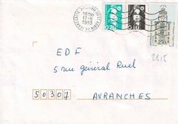 TP N° 2815 Avec 2617/18  Sur Enveloppe De St Aubin De Terregate - Marcophilie (Lettres)