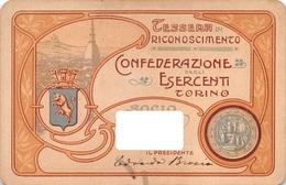 """08508 """"TESSERA DI RICONOSCIMENTO - CONFEDERAZIONE DEGLI ESERCENTI - TORINO"""" ORIG. - Organisaties"""