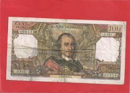100 FRANCS TYPE CORNEILLE . DATE 3-10-1974 . ALPH J.831  N° 00353 SIGN MORANT - BOUCHET - VERGNES  2 SCANES - 1962-1997 ''Francs''