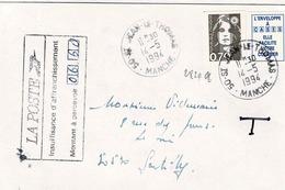 TP N° 2824a  Sur Enveloppe  Taxée De St Jean Le Thomas - 1961-....