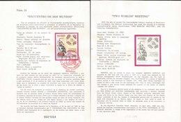 V) 1987 MEXICO, TWO WORLDS MEETING, FDB - Mexico