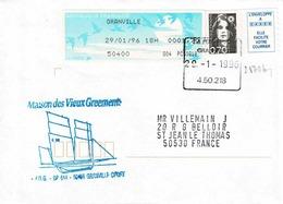 TP N° 2873b Et Complément De 1,70fr Par Distributeur Sur Enveloppe  De Granville - 1961-....