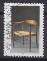 Denmark 1991 Mi. 1007  3.50 Kr Gebrauchskunst Stuhl Chair Von Hans J. Wegener - Dänemark
