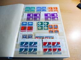 Vierer Block Sammlung **/o Schweiz/Lichtenstein - Briefmarken