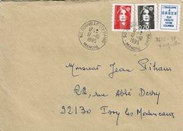 """TP N° 2873 Et 2874 Avec Vignette """"l'enveloppe à Cases"""" Sur Enveloppe  De Donville Les Bains - 1961-...."""