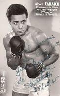 Abderamane Faradji Photo Boxe Champion D'Algérie - Authographs