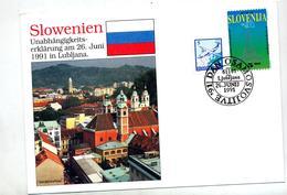 Lettre Cachet  Independance - Slowenien