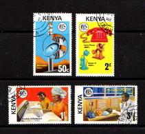 KENYA    1976    Telecomunications    Set  Of  4    USED - Kenya (1963-...)
