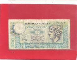 REPUBLICA ITALIANA . 500 LIRE . MERCURY .  . 2 SCANES - 500 Lire