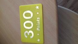 JETON FORAIN 300 POINTS JAUNE 87X55MM - Seizoenen En Feesten