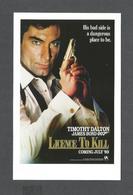 AFFICHES - POSTERS - CINÉMA -  JAMES BOND AGENT 007 - TIMOTHY DALTON LICENCE TO KILL ( 1989 ) - Affiches Sur Carte