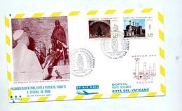 Lettre Cachet Meryem Visite Pape  Vierge - Lettres & Documents