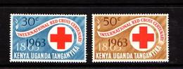 KENYA  UGANDA  TANGANYIKA    1963    Centenary  Of  Red  Cross  Set  Of  12    MH - Kenya, Uganda & Tanganyika