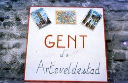 61 Dia's Jaren +- 70. In Diadoos. Gent - Gand - Ghent - Diapositives
