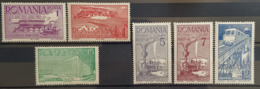 ROMANIA - MLH - Sc 493-498 - 1918-1948 Ferdinand, Charles II & Michael