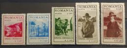 ROMANIA - MLH - Sc B26-B30 - 1918-1948 Ferdinand, Carol II. & Mihai I.