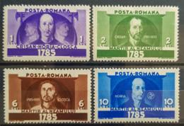 ROMANIA - MLH - Sc 442-445 - 1918-1948 Ferdinand, Carol II. & Mihai I.