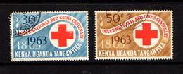 KENYA  UGANDA  TANGANYIKA    1963    Centenary  Of  Red  Cross  Set  Of  12    USED - Kenya, Uganda & Tanganyika