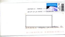 Lettre Flamme Chiffree Sous Code Symbole Inegalité Sur Timbre En Ligne Dune Pyla ? - Marcophilie (Lettres)