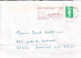 TP N° 2820 Seul Sur Enveloppe De Granville Avec Cachet Rouge - 1961-....