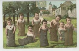 ENFANTS - BEBES - Jolie Carte Fantaisie Bébés Course En Sac - Neonati