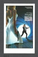 AFFICHES - POSTERS - CINÉMA -  JAMES BOND AGENT 007 - TIMOTHY DALTON THE LIVING DAYLIGHTS ( 1987 ) - Affiches Sur Carte