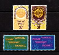 KENYA  UGANDA  TANGANYIKA    1964    Olympic  Games  Set  Of  4    MH - Kenya, Uganda & Tanganyika