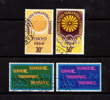 KENYA  UGANDA  TANGANYIKA    1964    Olympic  Games  Set  Of  4    USED - Kenya, Uganda & Tanganyika
