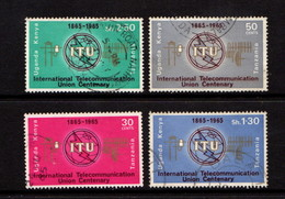 KENYA  UGANDA  TANZANIA    1965    ITU Centenary  Set  Of  4    USED - Kenya, Uganda & Tanganyika