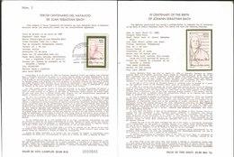 V) 1985 MEXICO, III CENTENARY OF THE BIRTH OF JOHANN SEBASTIAN BACH, FDB - Mexico