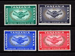 KENYA  UGANDA  TANZANIA    1965    ICY    Set  Of  4    MH - Kenya, Uganda & Tanganyika