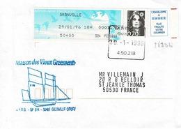 TP N° 2873b  Et 1,70 Fr De Distributeur Sur Enveloppe De Granville - 1961-....