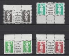 FRANCE.  YT   N° 2617-2618-2790-2715  Neuf **  (avec Pub) - 1989-96 Bicentenial Marianne