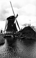 Windmolen Molen Windmill Moulin à Vent  Aarlanderveen  Nr 1 Van De Drooggemaakte Polder   Echte Fotokaart     L 589 - Windmolens