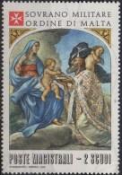 PIA - SMOM - 1978 :  Natale - La Vergine Il Bambino E San Basilio - Quadro Di A. Sacchi - (UN  139) - Sovrano Militare Ordine Di Malta