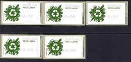 66 Recycling (2) ** Postfrisch, MNH, Neuf - Automatenmarken (ATM/Frama)