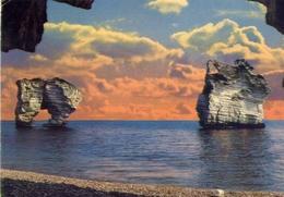 Gargano - Pittoresco - I Faraglioni Di Baia Dei Mergoli - Formato Grande Viaggiata – E 13 - Italia