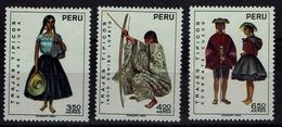 Peru 1972 - Trachten  Folk Costume - MiNr 872-874** - Kostüme